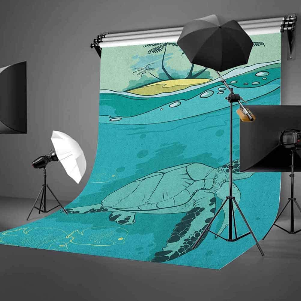 8x12 FT Vinyl Photography Backdrop,Underwater World with Shelled Mollusk Corals Pearls Crystalline Form Sea Nautical Theme Background for Selfie Birthday Party Pictures Photo Booth Shoot
