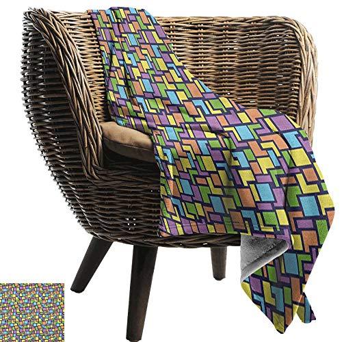 ZSUO Kinderdeken Geometrische, Klassieke Marokkaanse Tegels met stippen in speelse kleuren Oosterse kunst Modern Display,Multi kleuren Gezellige en Duurzame Fabric-Machine Wasbaar