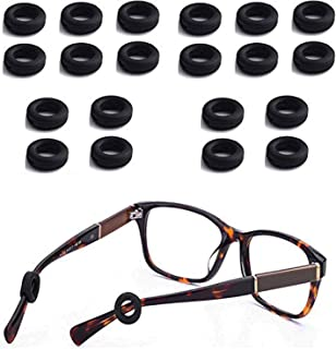 Silicone Round Eyeglasses Temple, Tips Sleeve Retainer, Anti-Slip Round Comfort Glasses Retainers, for Spectacle, Sunglass...
