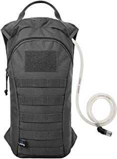 LA Police Gear 2L (70 Ounces) 600D Polyester Emergency Hydration Bladder Pack for Running, Hiking, Cycling, Climbing, Camping, Biking, and Tactical,