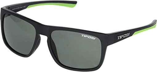 Satin Black/Neon Frame Smoke Polarized Lens