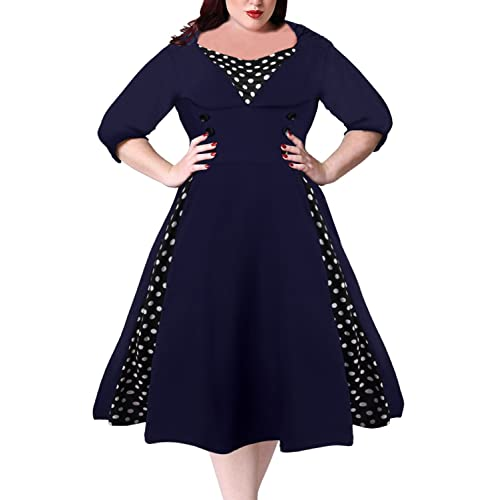 Plus Size 50s Style Swing Dresses: Amazon.com