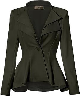 HyBrid & Company Women Double Notch Lapel Sharp Shoulder...