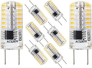 G8 LED Bulb Dimmable 3 Watt Equivalent to 20W-25W T4 JCD Type Halogen Bulbs, Bi-Pin G8 Base, AC110V-120V Daylight White 6000K for Under Counter, Under Cabinet Lighting (8 Pack)
