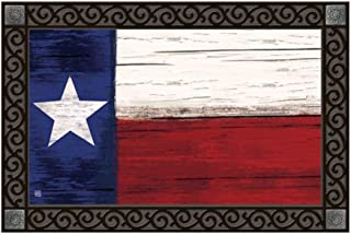 Studio M MatMates Lone Star State Texas Decorative Floor Mat Indoor or Outdoor Doormat with Eco-Friendly Recycled Rubber Backing, 18 x 30 Inches
