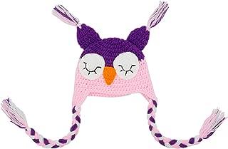 Baby Cute Crochet Knit Owls Woolly Cap Infant Toddler Earflap Hat
