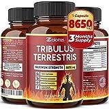 Tribulus Terrestris, 8650mg Per Capsule, Highest Potency with Ashwagndha, Panax Ginseng, Saw Palmetto, Maca, Shilajit. Boost Energy, Mood, Stamina & Performance, for Men & Women, 3 Months Supply.