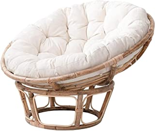 Vadmepiop Egg Nest Chair Cushions with Rope, Thicken Outdoor Chair Cushions, Waterproof Round Swing Backrest Cushion for G...