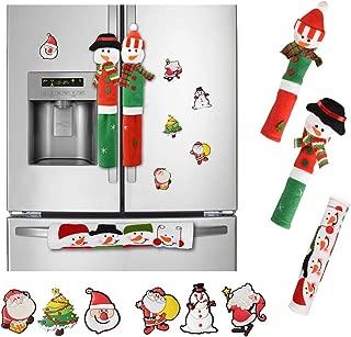 Garma Christmas Decoration Set - Santa Claus/Snowman Handle Cover with 6 Fridge Magnets for Christmas Kitchen Decoration