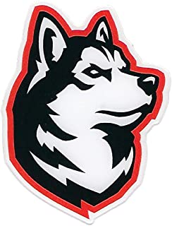 WinCraft Northeastern University Huskies Auto Badge Decal, Hard Thick Acrylic, Small 3.25x2.4 inches