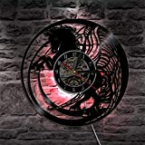 Licorne magique lampe murale décoloration disque vinyle horloge murale fille chambre licorne maternelle décoration veilleuse
