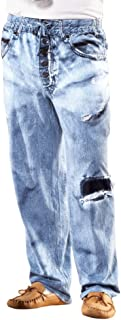 Faux Denim Soft Cotton Lounge Pant - Drawstring Waistband for Great Fit