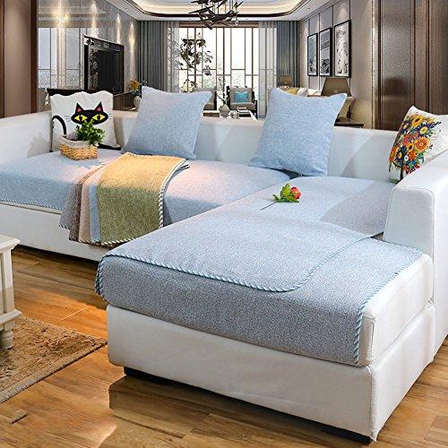Abschnittal sofa decken,Sofa-handtuch abdeckungen,Sofa-protector-baumwoll-leinen anti-rutsch dekorative sofa cover werfen setzt für wohnzimmer kissenhülle-Himmelblau 70x150cm(28x59inch)(1PCS)