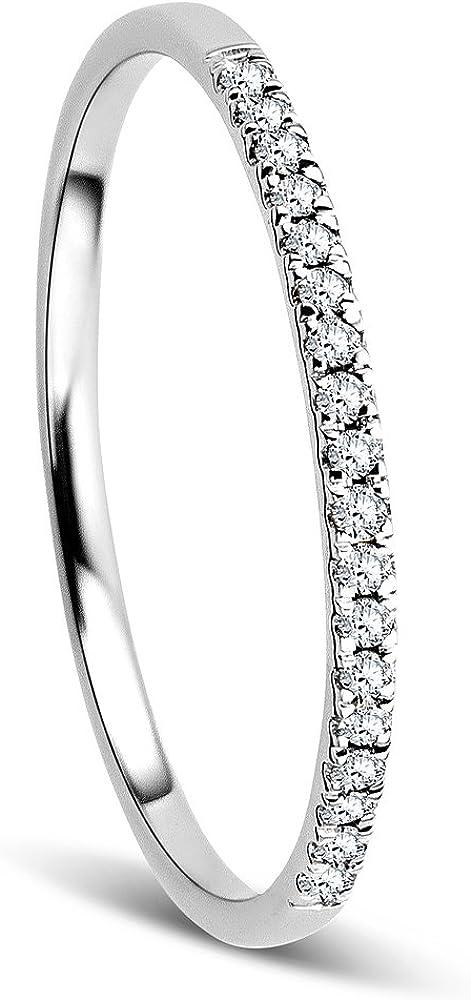 Orovi anello donna in oro bianco 9 kt / 375( Gr 0,8) con diamanti taglio brillante OR8996R52