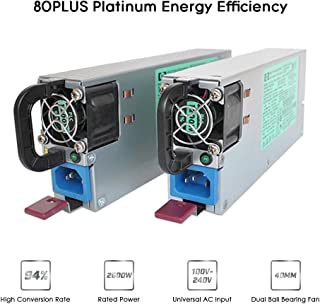 Power Supply, KKmoon 2600W Switching Power Supply 94% High Efficiency for Ethereum S9 S7 L3 Rig Mining 90-260V