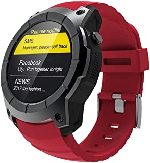 LYS GPS Sports Watch S958 MTK2503 Heart Rate Monitor Smart Watch Multi-Sport Model Smart Watch for Android iOS Mobile Phone,Red