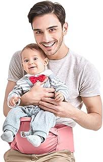 Kidsidol Portador de asiento de cadera de bebé Portador del taburete de la cintura infantil Portador de cintura cómodo por 0-36 meses bebé (rosa)