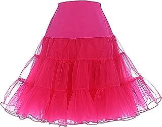 hot pink underskirt