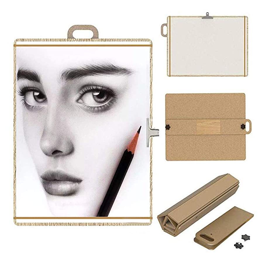Artist Sketch Tote Board, Wood Portable Foldable Artist Drawing & Sketching Board,Great for Classroom, Studio or Field Use (15.75