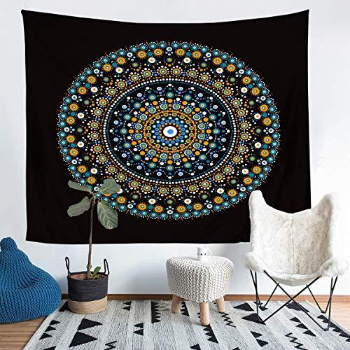 Tapiz de pared Boho Chic Mandala Bohemia Estilo Tapiz para Niños Niñas Hippie Mandala Tapiz Colgante de Pared Exótico Floral Impreso Decoración para Dormitorio Sala de Sala de Sala de estar