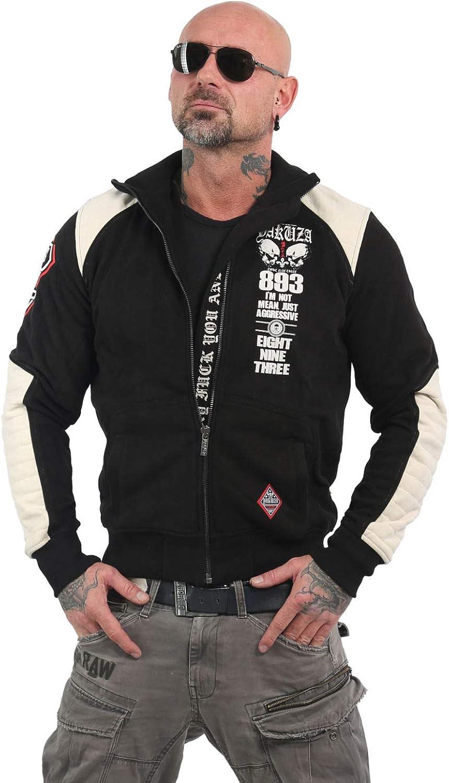 Yakuza Herren Lily Skull Two Face Trainingsjacke Zipper