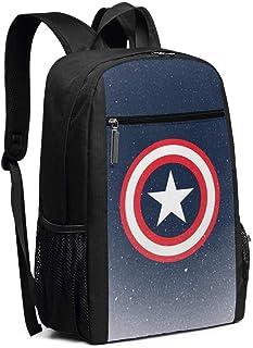 Mochila de viaje para ordenador portátil, Capitán América, colegio, bolsa de ordenador para mujeres, hombres