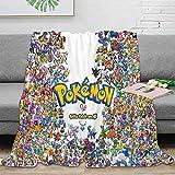Elliot Dorothy Pikachu pokemon de dibujos animados de TV sedoso suave manta de felpa manta de cama para todas las estaciones de uso fácil cuidado 60 x 80 pulgadas