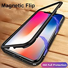 Shopkart Present iPhone X Case,Ultra Slim Magnetic Cover Metal Frame & Tempered Glass Back, Built-in Powerful Magnet [Wireless Charging Support] Full Protection for iPhone X (Black)