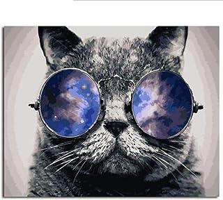 Waofe Gerahmte Tier Katze Malerei & & & Kalligraphie Diy Malen Nach Zahlen Färbung Nach Zahlen Auf Leinwand Für Wohnkultur B07P799CB5  Gewinnen Sie hoch geschätzt b8f411