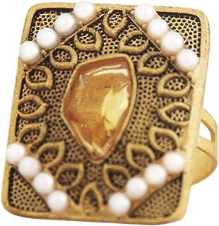 storeindya 女士女孩印度民族风复古饰面水钻人造水晶自由尺寸