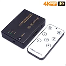 HDMI Switch 3 in 1 ouput Support 4K@60HZ, HDMI 2.0, HDCP 2.2, HDR, 3D, 18G/BPS with IR Remote Control, Ansten HDMI 2.0 Switcher 3x1 for PS4/PS3/PRO/Xbox/360/DVD Game Home Projector Use