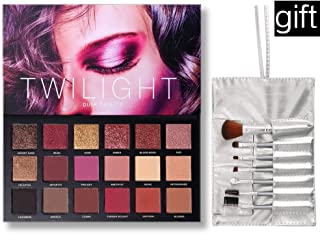 UCANBE Highly Pigmented Eyeshadow Palette 18 Colors Matte Shimmer Glitter Blendable Long Lasting Eye Shadow Palettes with Makeup Brushes Kit Beauty Cosmetics Set