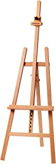 MEEDEN Basic Lyre Studio Easel, Wood Artist Easel for Painting, Adjustable Height and Working Angles, Holds Canvas up to 4...