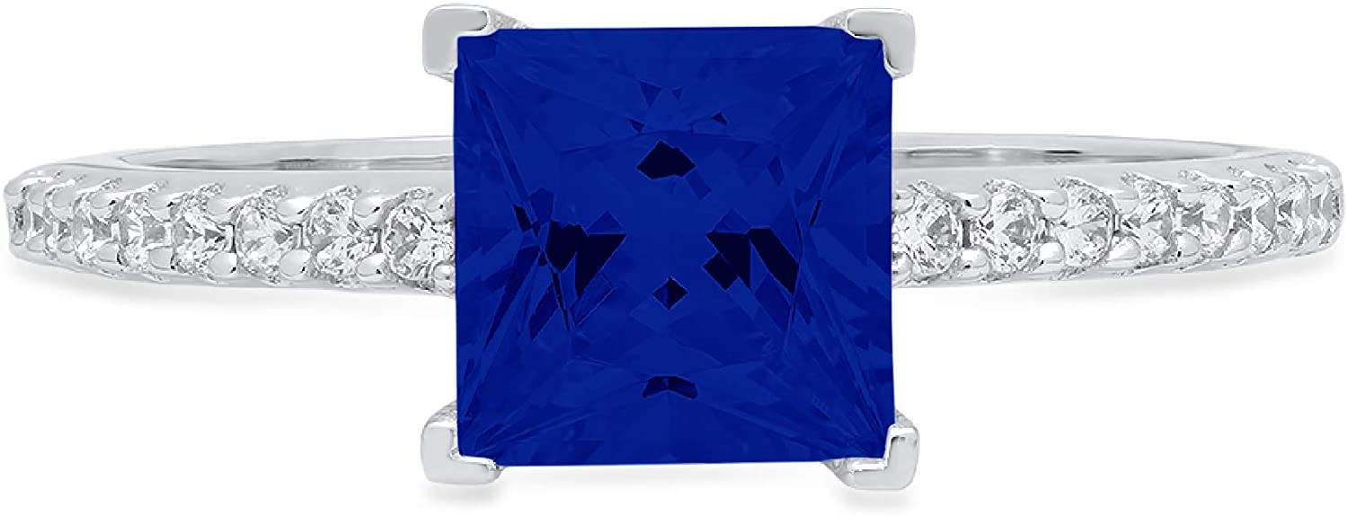 1.66ct Brilliant Princess Popular products Cut Solitaire Accent Outstanding Flawless with Gen