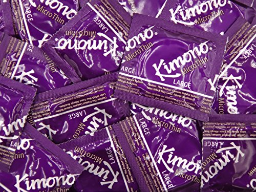 Kimono MicroThin Large Condoms - Also Available in Quantities of 12, 25, 100 (50 Condoms)