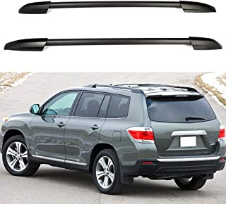 ECCPP Roof Rack Side Rails Luggage Cargo Carrier Roof Side Rails Fit for 2008 2009 2010 2011 2012 2013 Toyota Highlander Sport Utility,Aluminum Cross Rails