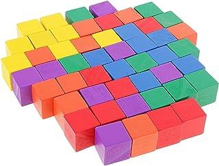 Dovewill 高品質 カラフル ブロック 耐久性 立方体 キューブ 知育 図形 全2選択 - 50個