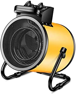 DHR Termoventiladores calefactores 5000 W Calentador eléctrico con protección contra el sobrecalentamiento, calentador de alta potencia industrial for taller de fábrica de efecto invernadero, área de
