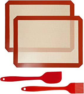 d.Stil 2 Tapis de Cuisson en Silicone 40cm x 30cm 2 Pièces sans BPA Anti-Adhérent Toile Feuille de Cuisson Patisserie 2 Ta...