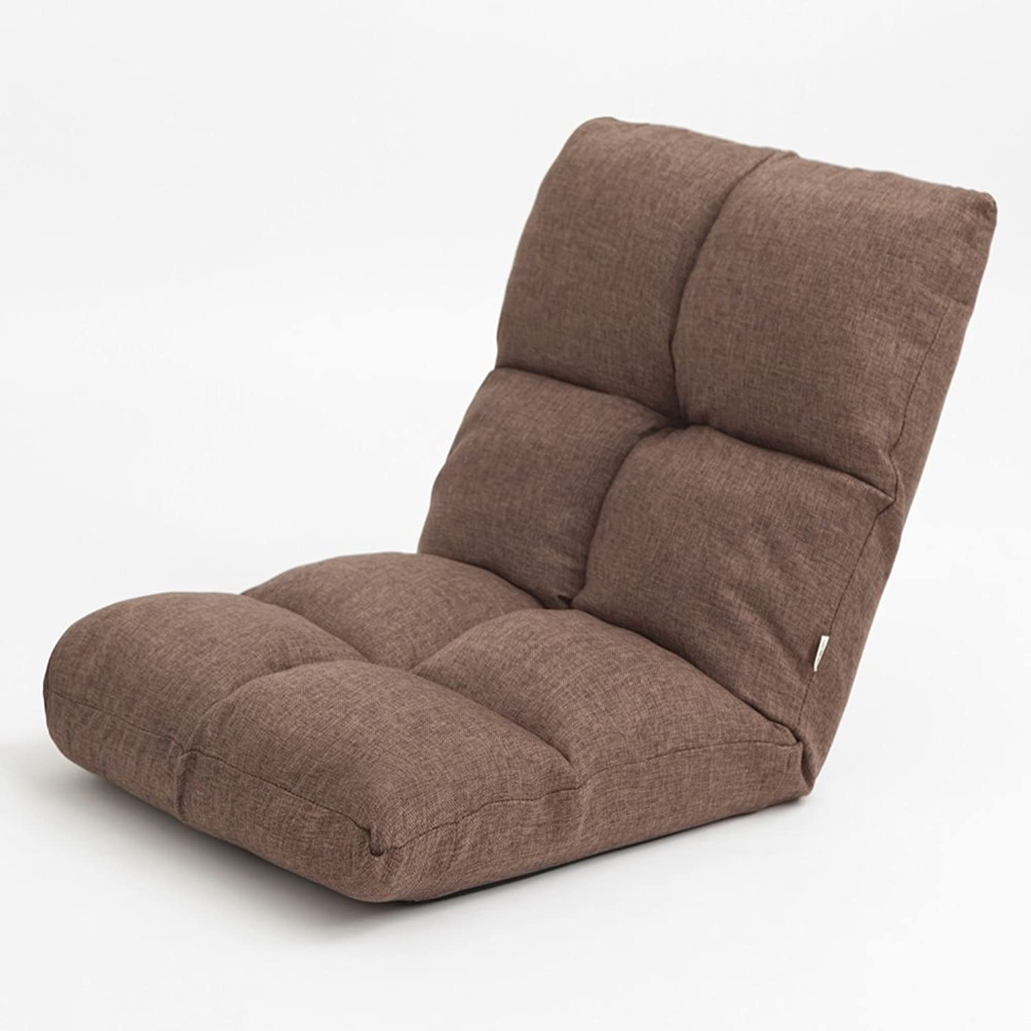 Folding Chair- Lounge Chairs Lounger Sofa Tatami Folding Small Sofa Bed Computer Backrest Chair Flooring Sofa (color   Brown)