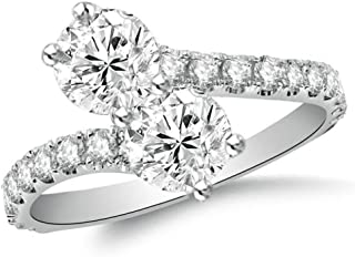 diamond solitaire bypass ring