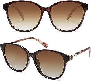 نظارات شمسية مستقطبة مستديرة من سوجوس للنساء، عصرية ريترو للحماية من الأشعة فوق البنفسجية، نظارات شمسية نسائية SJ2147