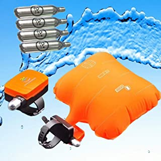 Anti-Drowning Bracelet Co2 Emergency Float Device, Water Aid Lifesaving, Water Buoyancy Device Swim Safety, Life Preserver Load Bearing Rescue Float Wristband with 4 Cartridges