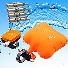 OHIYO Anti-Drowning Bracelet Co2 Emergency Float Device, Water Aid Lifesaving, Water Buoyancy Device Swim Safety, Life Preserver Load Bearing Rescue Float Wristband with 4 Cartridges