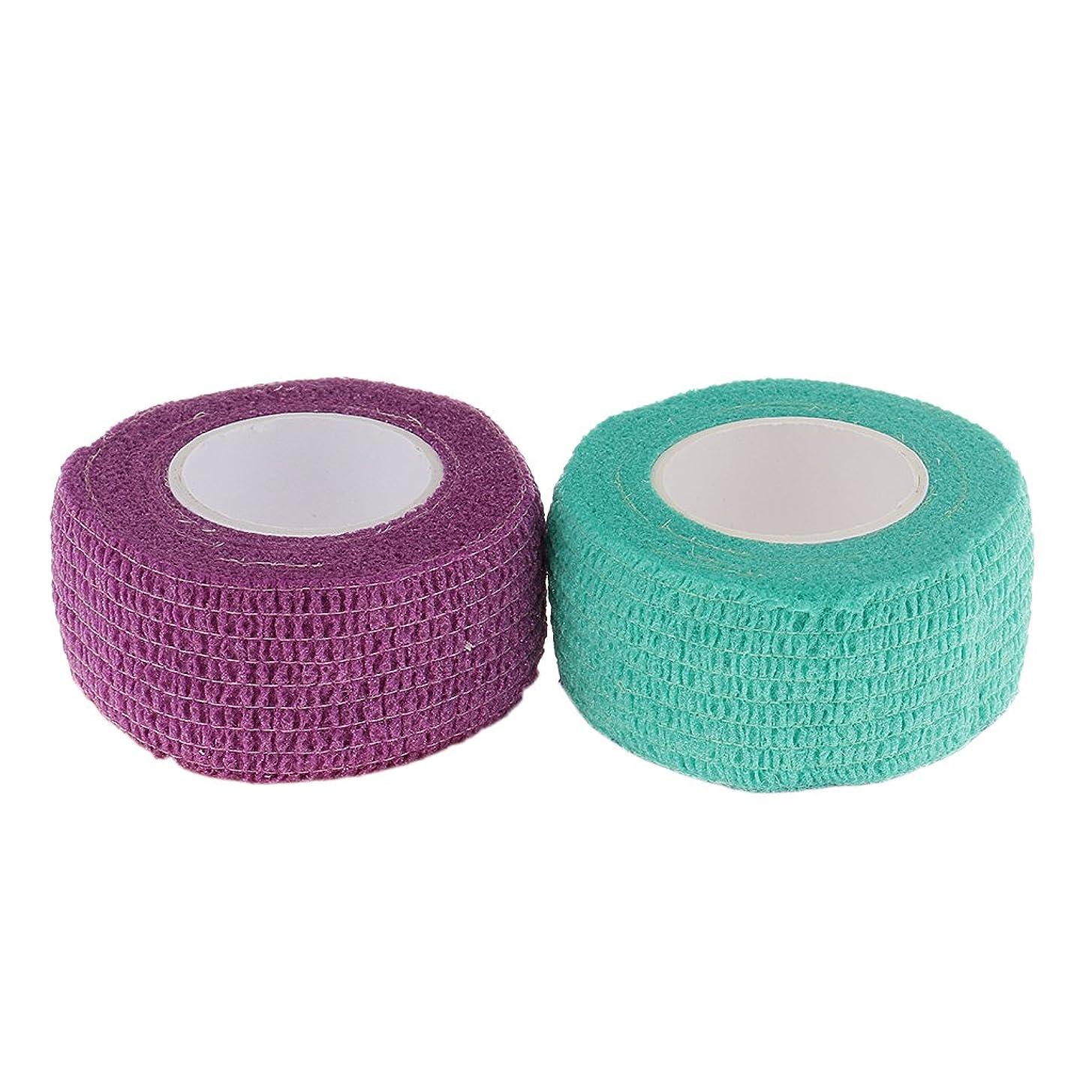 代替案劇的平衡T TOOYFUL ネイルケア 接着テープ 保護 包帯 自己粘着 ネイルエクステンション 織布 使いやすい 2個セット