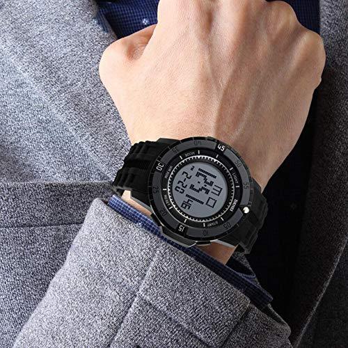 XYGB Elektronische Multifunktionsuhr im Freien wasserdichte Bergsteiger-Uhr für Herren, Black