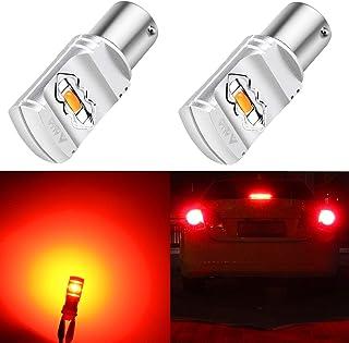 Alla Lighting 3800lm BA15S 1156 Red LED Bulbs Xtreme...