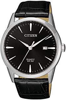 Citizen Mens Quartz Watch, Analog Display and Leather Strap - BI5000-10E