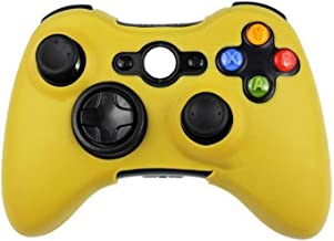 Soft Silicone Protective Skin Case for Microsoft Xbox 360 Wired / Wireless Controller Analog Sticks Caps Cover,Yellow