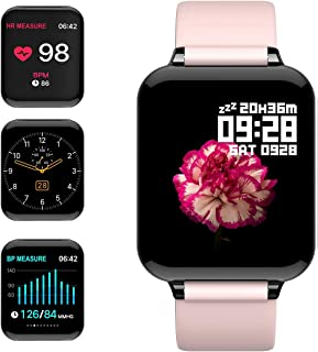 feifuns Smart Watch,  Fitness Tracker Activity Tracker with Heart Rate Monitor 1.3 Color Screen with Blood Pressure Sleep Monitor Step Calorie Counter Waterproof Band for Men Women Kids